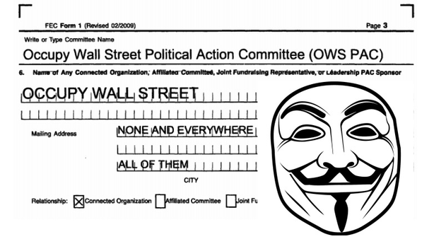 Occupy Wall Street Objects to the Occupy Wall Street PAC