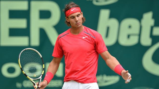 Spain's Rafael Nadal Reacts AFP/Getty Images