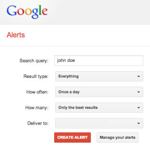 How to Use Google to Check Your Reputation Online image Google Alerts Setup1