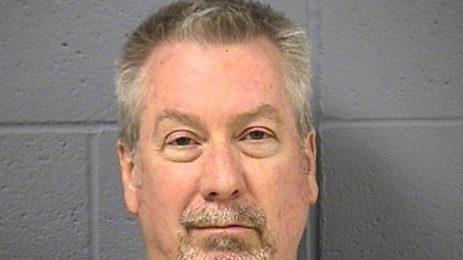 FILE - This May 7, 2009 file photo provided by the Will County, Ill., Sheriff's office shows former Bolingbrook, Ill., police officer Drew Peterson. Peterson is charged with first-degree murder in the 2004 drowning death of his former wife Kathleen Savio. He has pleaded not guilty. (AP Photo/Will County Sheriff's Office, File)