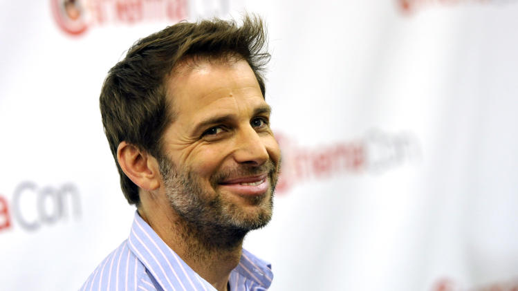 "Zack Snyder, director of the upcoming film ""Man of Steel,"" poses before the Warner Bros. presentation at CinemaCon 2013 at Caesars Palace on Tuesday, April 16, 2013 in Las Vegas. (Photo by Chris Pizzello/Invision/AP)"