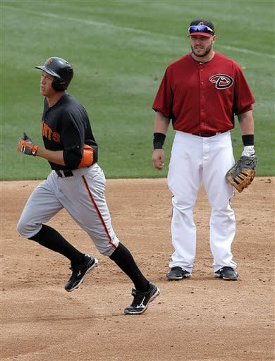 Belt hits 8th spring homer, Giants beat D-backs