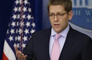 Press Secretary Jay Carney briefs reporters at the White House in Washington, Monday, Dec. 17, 2012. Carney says the president will engage the American people and lawmakers on the issue of gun violence in the coming weeks. (AP Photo/Charles Dharapak)