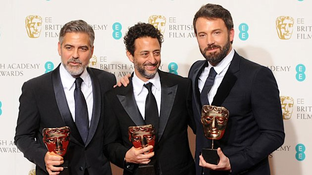 Ben Affleck & George Clooney Celebrate BAFTA Win
