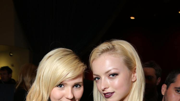 Abigail Breslin and Francesca Eastwood at TriStar Pictures World Premiere of 'The Call', held at the ArcLight Hollywood on Tuesday, Mar. 5, 2013 in Los Angeles. (Photo by Eric Charbonneau/Invision for Screen Gems/AP Images)