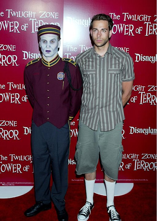 Zachary Levi of Chuck at The Twilight Zone Tower Of Terror Opening at Disney's California Adventure.