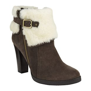 Suede sheepskin lined boots by Marks & Spencer
