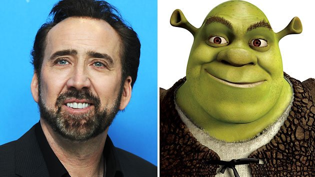 Nicholas Cage Shrek