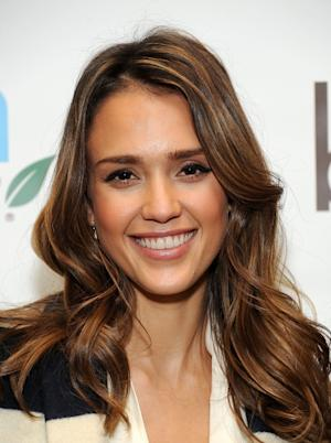 Jessica Alba arrives at the Biggest Baby Shower Hosted By Big City Moms And TheBump at Skirball Cultural Center in Los Angeles on February 28, 2012 -- Getty Images