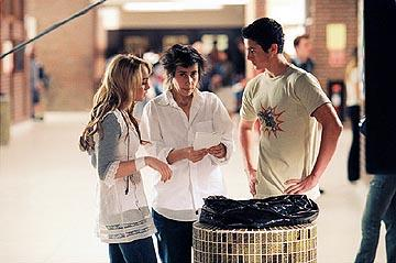 Lindsay Lohan , director Sara Sugarman and Eli Marienthal on the set of Touchstone's Confessions of a Teenage Drama Queen