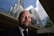 Magnus Renfrew, Fair Director for the Hong Kong International Art Fair, poses for a photo in Hong Kong, on May 10. Asia's premier art fair opens on May 17, bringing artists, collectors and dealers from around the world to a city who's booming market illustrates a shift of wealth from West to East