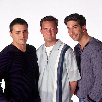 Matt LeBlanc, Matthew Perry and David Schwimmer in NBC's Friends