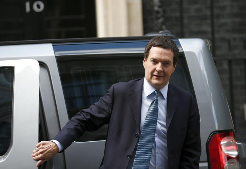 Britain's Chancellor of the Exchequer George Osborne arrives at 10 Downing Street, in central London