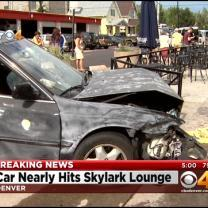 Car Crashes Into Skylark Lounge