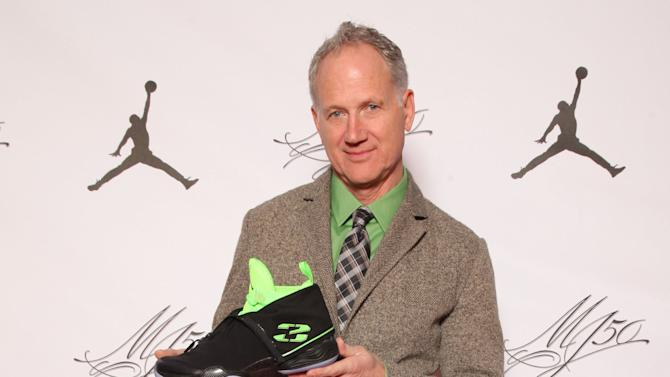 IMAGE DISTRIBUTED FOR JORDAN BRAND - Air Jordan XX8 designer Tinker Hatfield is seen at the Jordan Brand party celebrating Michael Jordan's birthday on Friday, February 15, 2013 in Houston, TX.  The Jordan Brand launched its Air Jordan XX8 in Houston on the same day.  (Photo by Omar Vega/Invision for Jordan Brand/AP Images)