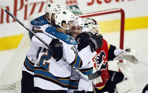 Sharks topple Flames 4-1