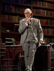 "In this theater image released by Boneau/Bryan-Brown, John Lithgow portrays columnist and political pundit Joseph Alsop in a scene from the play ""The Columnist,"" playing at the Samuel J. Friedman Theatre in New York. (AP Photo/Boneau/Bryan-Brown, Joan Marcus)"