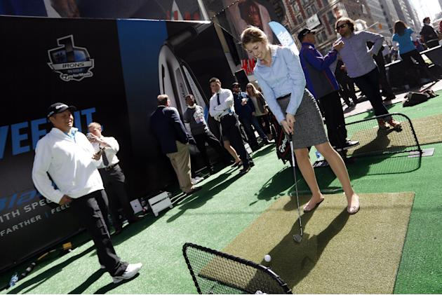TaylorMade Golf constructed a driving range in the heart of New York's Times Square, where consumers learned more about the company's Speed Pocket technology and competed in the Speed Pocket W