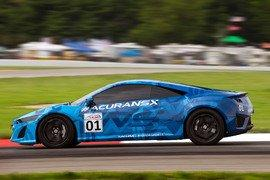 Acura NSX Prototype Excites Racing Fans and Sports Car Enthusiasts Alike Lapping Mid-Ohio Sports Car Course Prior to Honda Indy 200 Race