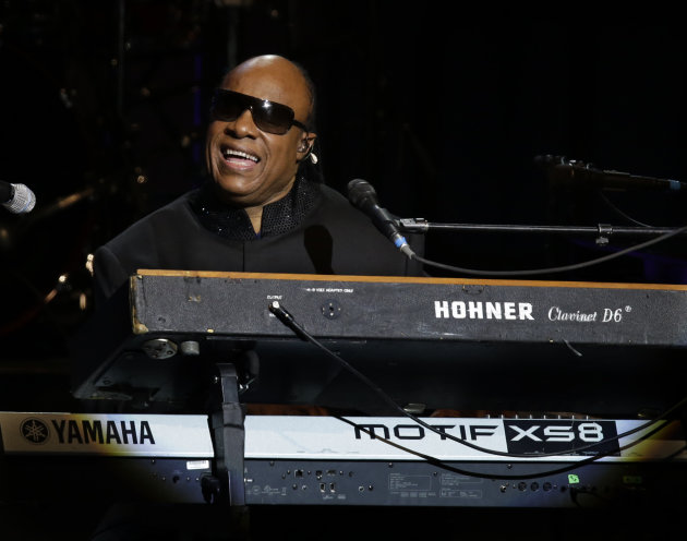 Singer Stevie Wonder performs …