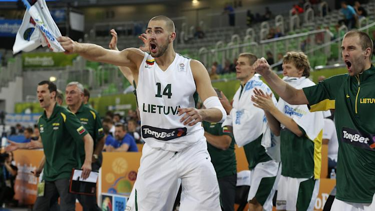 Lithuania beats Belgium 86-67 at Euro championship