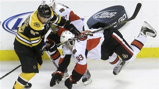 Senators beat Bruins 4-2 to grab No. 7 seed