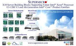 Supermicro® Announces X10 Server Building Blocks Supporting Intel® Haswell Processors