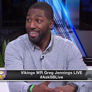 Minnesota Vikings wide receiver Greg Jennings: 'Quarterback Teddy Bridgewater is making strides'