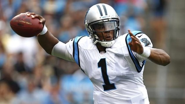 Carolina Panthers quarterback Cam Newton (1) prepares to throw a pass against the New Orleans Saints during an NFL football game in Charlotte, North Carolina (Reuters)