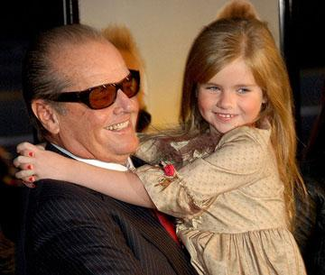 Jack Nicholson and Taylor Ann Thompson at the Los Angeles premiere of Warner Bros. Pictures' The Bucket List