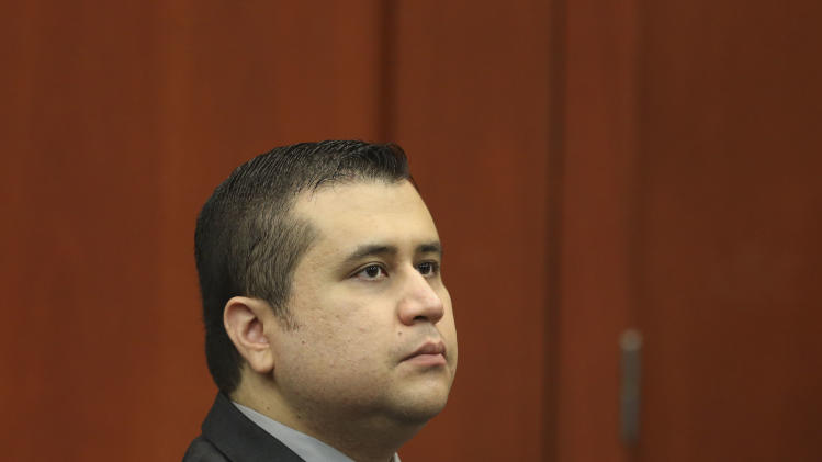 George Zimmerman sits in Seminole circuit court during his trial in Sanford, Fla. Wednesday, July 10, 2013. Zimmerman has been charged with second-degree murder for the 2012 shooting death of Trayvon Martin. (AP Photo/Orlando Sentinel, Gary W. Green, Pool)