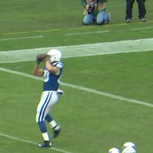Indianapolis Colts tight end Fleener 7-yard touchdown reception