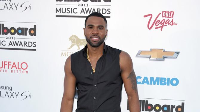 Jason Derulo arrives at the Billboard Music Awards at the MGM Grand Garden Arena on Sunday, May 19, 2013 in Las Vegas. (Photo by John Shearer/Invision/AP)