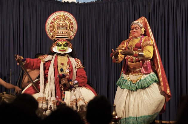 A Kathakali performance