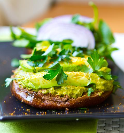 Avocado Hummus Bagel