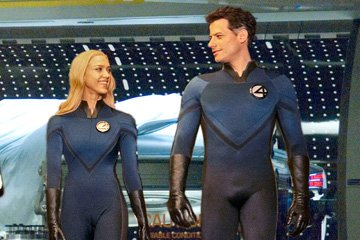 Jessica Alba as Sue Storm and Ioan Gruffudd as Reed Richards in 20th Century Fox's Fantastic Four: Rise of the Silver Surfer