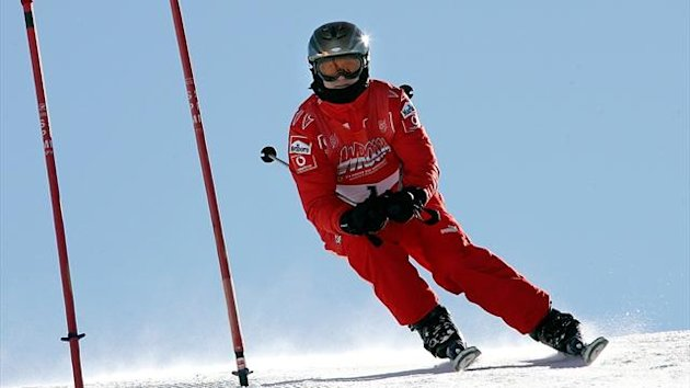 File photo of Michael Schumacher skiing in 2006 (Reuters)