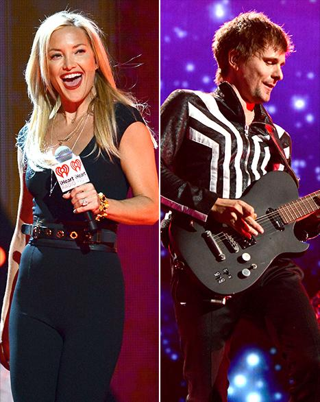 "Kate Hudson, Matthew Bellamy Watch Elton John Sing ""Tiny Dancer"" at iHeart Radio Music Festival"