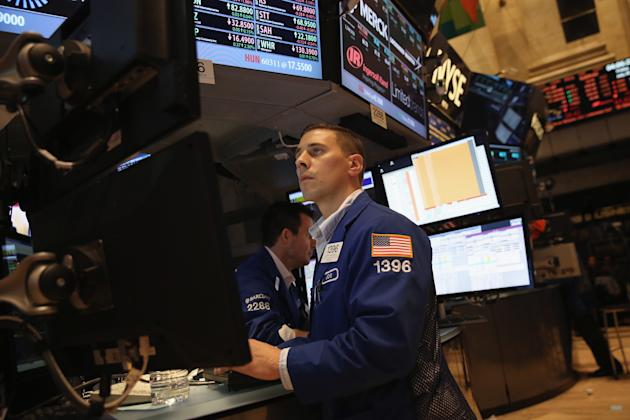Traders Work On Floor Of New York Stock Exchange