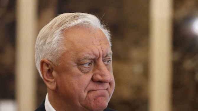 File photo of former Belarussian PM Myasnikovich during CIS Prime Ministers' meeting in Minsk