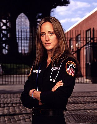 Kim Raver as paramedic Kim Zambrano on NBC's Third Watch Third Watch
