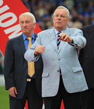 Barrie Hubbard (right) spent 29 years as a director and chairman of Chesterfield