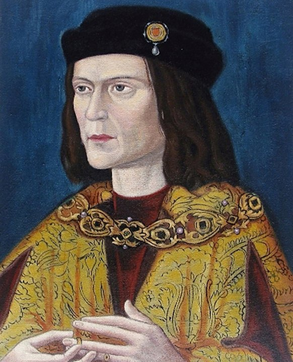 Undated photo made available by the University of Leicester, England, Monday Feb. 4, 2013 of the earliest surviving portrait of Richard III in Leicester Cathedral, ahead of an announcement about the i