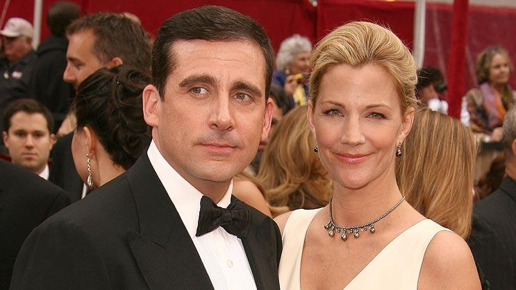 Steve Carell and wife attend the 80th Annual Academy Awards. - February 24, 2008