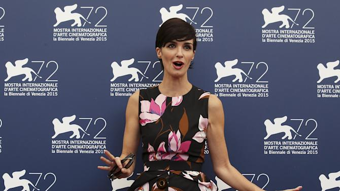 Spanish actress Vega, a member of the jury at the 72nd Venice Film Festival, poses during a photo call for the event in Venice