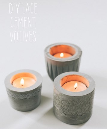 Cement Votive Holders