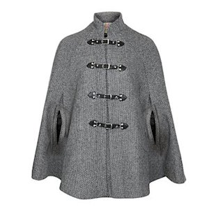 Grey Betsey Tweed Cape by New Look