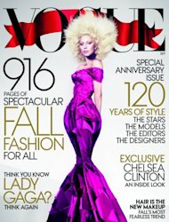 Lady Gaga on the cover of Vogue&#39;s September edition