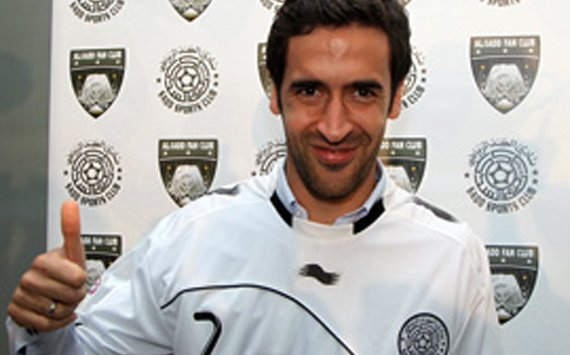 Real Madrid legend Raul scores on Al Sadd debut