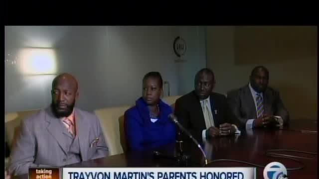 Trayvon Martin's Parents in Detroit